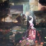 Spaziergang nach der Ankunft, 2013, 180 x 150 cm, Collage, Malerei auf Nessel