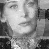Frau aus Byzanz, 2013, 100 x 70 cm, Collage auf Papier