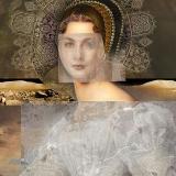Schwester, 2015, 110 x 160 cm, Collage auf Nessel