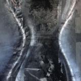 Sanduhr, 2008, 100 x 70 cm, Collage, Malerei auf Karton