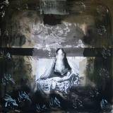 Traum und Träumer, 2009, 110 x 110 cm, Collage, Malerei auf Nessel
