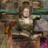 Das neue Halsband, 2014, Collage auf Nessel