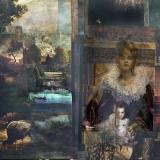 Der Achte Band, 2013, 120 x 160 cm, Collage auf Leinwand
