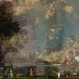 Leuchtende Seltsamkeit, 2015, 150 x 110 cm, Collage auf Nessel