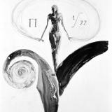 Allegorie des Anfangs, 1999, 80 x 110 cm, Tusche auf Transparentfolie
