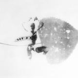 Neigung, 2000, 30 x 40 cm, Zeichnung mit Tusche auf Folie