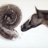 Übergang, 2006, 80 x110 cm, Zeichnung mit Tusche auf Folie