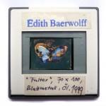 Kobaltfalter, 1999, 80 x 110 cm, Öl, Blattmetall auf Karton